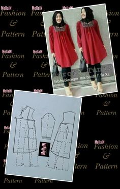 Dress Muslim Modern, Sewing Tutorials, Sewing Patterns, Sewing Clothes Women, Casual Hijab Outfit, Sewing Techniques, Modest Dresses, Hijab Fashion, Blouse Designs