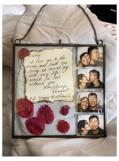 DIY dainty photo frame collage #customized #gifts #for #boyfriend #customizedgiftsforboyfriend