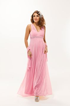Nancy Rose Pink Bridesmaid Dress