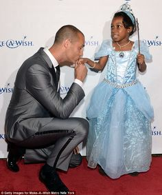 Prince charming! Photographer Nigel Barker kissed the hand of a Wish Kid at An Evening of Wishes, Make-A-Wish Metro New York's 30th Anniversary Gala in NYC on Thursday