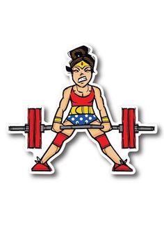 Wonder Woman Quotes, Wonder Woman Art, Workout Memes, Workout Guide, Workouts, Sticker Shop, Sticker Design, Fit Girl Inspiration, Badass Women