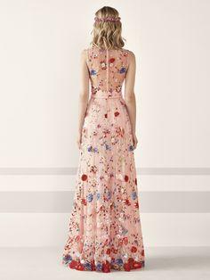 La cerimonia veste il Pr - Italiano Newest Hair Design Sweet 16 Dresses, Pretty Dresses, Floral Maxi Dress, Chiffon Dress, Grad Dresses, Bridesmaid Dresses, Couture Dresses, Fashion Dresses, Designer Gowns