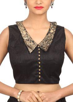Blouse Designs High Neck, Designer Blouse Patterns, Fancy Blouse Designs, Designs For Dresses, Kalamkari Blouse Designs, Cotton Saree Designs, Saree Blouse Designs, Stylish Blouse Design, Boat Neck
