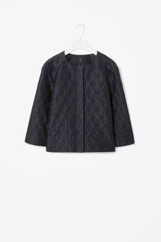 Lightweight jacquard blazer