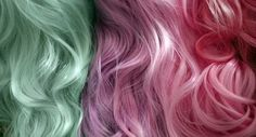 Mint, lavender & pink hair... love them all!