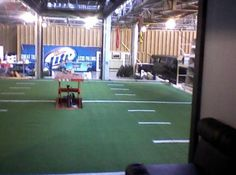 SYNLawn of Kansas City provides synthetic grass that's perfect for indoor putting greens and play areas.