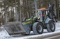 Ylöjärven kaupungin Lännen 8600i #Lännen #Lannen #multifunction #machine #backhoeloader #excavator