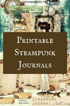 Printable Steampunk Journals