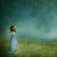 A noite acendeu as estrelas porque tinha medo da própria escuridão - Mário Quintana