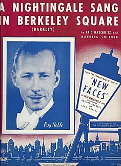 """Sheet music from the British classic, originally written for """"New Faces"""" revue, 1940."""