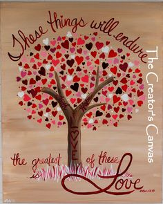 Tree pictures with scripture verses | ... Hope, and Love Painting. Scripture, Bible Verse, Love and Hearts Tree