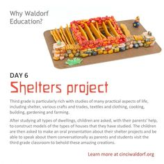 Day 6: Shelters project ... 40 Things We Love About Waldorf Education