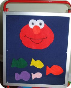 F is for Elmo's Fish Dorothy Flannel Friday, Abc For Kids, Elmo, Story Time, Kids Rugs, Fish, Lettering, Board, Crafts