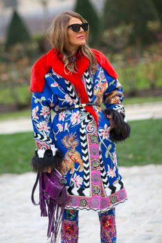 The best street style from Fall 2014 Paris Fashion Week. Click for more gorgeous looks!