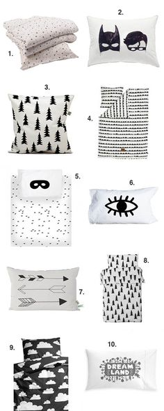 black and white ideas for your little one's room and bed decor #estella #kids #decor #bedding #room
