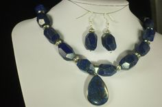 Lapis Teardrop by amberscustomdesigns on Etsy
