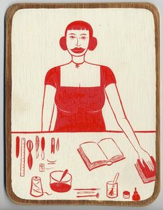Margaret Kilgallen's Bookbinder.