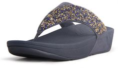 Flare Slippers Strass Cheap Fit Flops Blue Sale