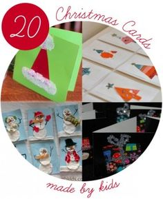 20 homemade Christmas cards by kids