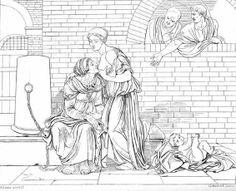 Charité Romaine au féminin Eberhard Wächter, 1808 #allaitement