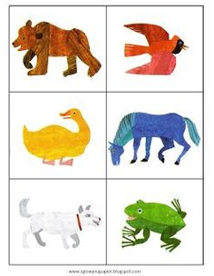 """Do you love """"Brown Bear Brown Bear What Do You See?"""" Try these activities to go with the book from the Polish blog, """"Head Full of Ideas."""""""