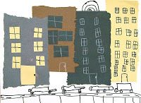 Cut and Tear Cityscape Collage