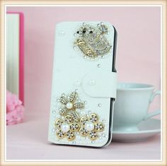 Juicy Bling Crown! Luxe wallet case hoesje voor Huawei Ascend P6
