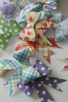 Something Charming: Paper Bow Garland Tutorial