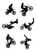 Dirt_bike : Jumping Motorcycle- vinyl for walls