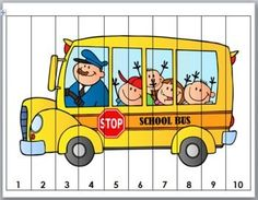images of school bus cartoon - Saferbrowser Yahoo Image Search Results Kindergarten, Preschool Worksheets, Preschool Activities, Counting Puzzles, Maths Puzzles, School Bus Clipart, Teaching Kids, Kids Learning, Pre School