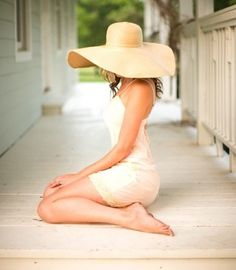 big hats, sundresses, bare feet and front porches