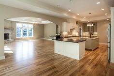 Open kitchen design in this Regency home