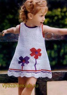 Платье для девочки - Для детей до 3 лет - Каталог файлов - Вязание для детей