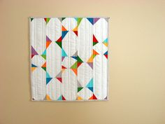 mini quilt on tan by Erin - TwoMoreSeconds, via Flickr