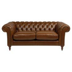 Chesterfield Medium 3 Seater  Sofa, Antique Saddle £999 Tesco 195cm
