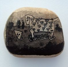 Trojan Horse of Pizza by Kevin McNamee-Tweed Trojan Horse, Pizza Cat, Rock Art, Horses, Tweed, Image, Products, Troy, Cave Painting