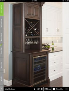 This is the one for my kitchen! So cool with the mini fridge on the bottom!