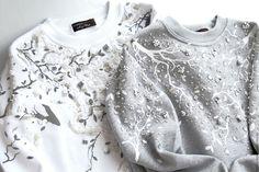 """Купить Хлопковый свитшот """"Белая зима"""" - белый, свитшот, свитшот с рисунком, свитшот на заказ"""