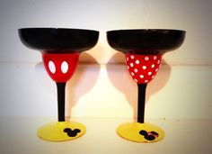 Margarita Glasses inspired by Mickey or Minnie by KynasKreations, $15.00