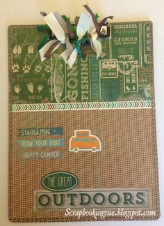 Scrapbooking Sue: Altered Clipboard made with Close To My Heart (CTMH) Timberline papers. www.scrapbookingsue.blogspot.com