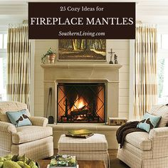 25 Cozy Ideas for Fireplace Mantels: This collection of fireplace mantels will keep you warm, cozy, and inspired—even on the chilliest days.