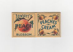 The Lowney's Peach Blossom, cousin to the classic Cherry Blossom. This is an incredibly rare piece of 1920s Canadian packaging.