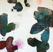 """Meredith Pardue  Terrain XII: 48"""" x 48"""" mixed media on panel 2012"""