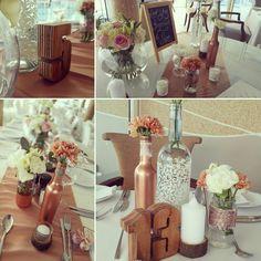 Blush pink, ivory and bronze wedding