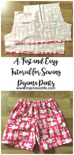injeniouslife - A Fast and Easy Tutorial for Sewing Pajama Pants | injeniouslife