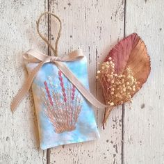 Hand Embroidered Lavender Bag (Free UK P&P) £8.00