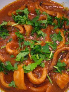 Portuguese cuisine: squid stew