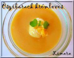 Limara péksége: Őszibarack krémleves