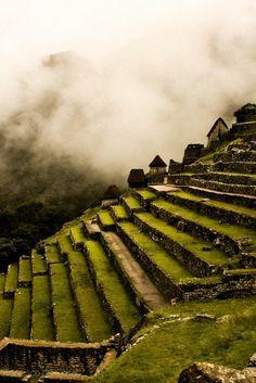 Machu Picchu, Peru. I want to go here climbing via the Inca trail