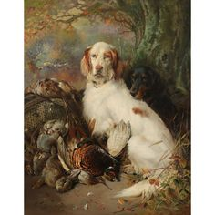 Old Masters, British & European Paintings - 04 Mar 2020 LOT 275 End of the day; an English and a Gordon setter with game by William Woodhouse Estimate: - Gordon Setter, European Paintings, Paintings I Love, Old Master, Wallis, Masters, Old Things, British, English